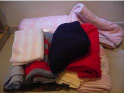 支援物資の一部:毛布・タオル・洋服・おもちゃ・犬具